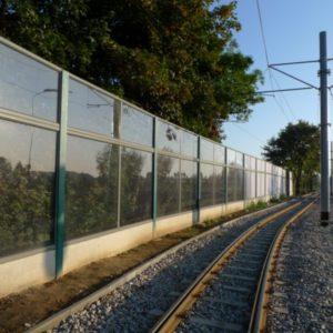 barriera antirumore stradale policarbonato lexan